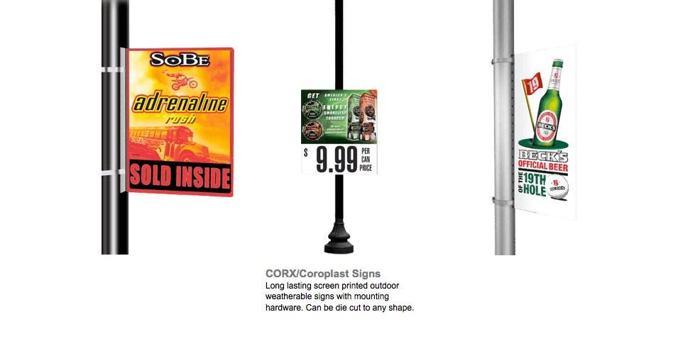 017 Custom Printed CorX Coroplast Pole and Outdoor Signs