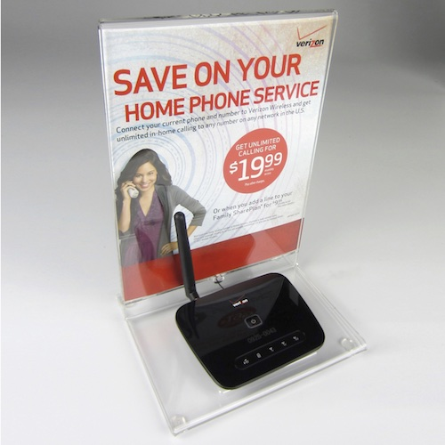 AHPPP060T Phone Connect Device 031412 Custom Acrylic Countertop Display
