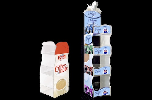 International Delight Carnation Acrylic Creamer Towers