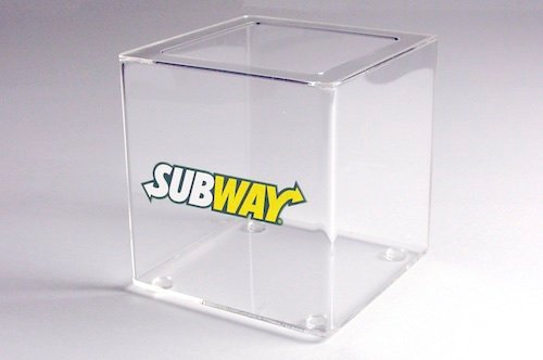 Subway Acrylic Tip Jar