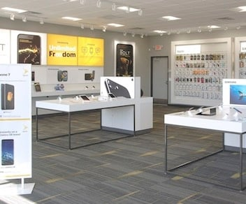 Sprint wireless retail store installation in Michigan