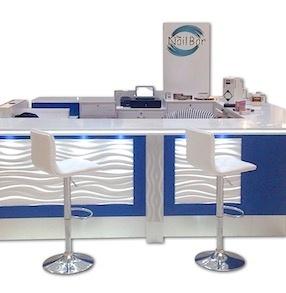 Nail Bar Walk Up Manicure Salon High End Mall Kiosk