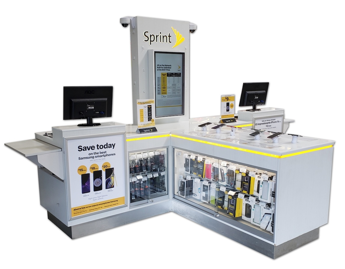 Sprint Best Buy store within a store kiosk