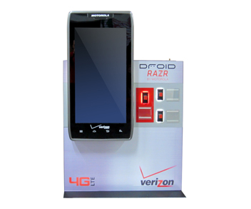 Droid Giant Phone Vertical SQ Custom Millwork Display