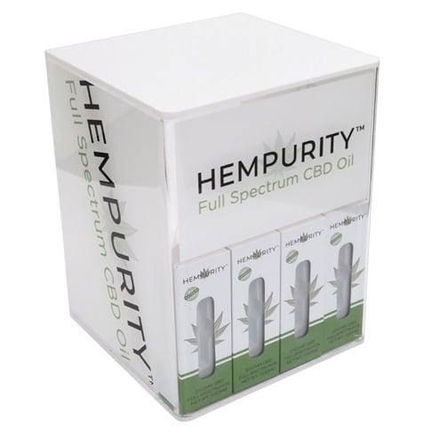 Hempurity CBD Vapor Oil Acrylic Countertop Display Front