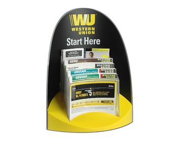 Western Union Start Here Injection Molded Literature Display Holder